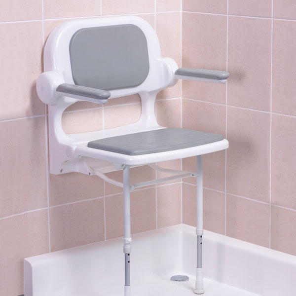 Akw 2000 Series Fold Up Seat With Back And Arms