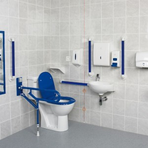 AKW Fully Compliant DOC M Pack with Close Coupled Disabled Toilet – Option 1