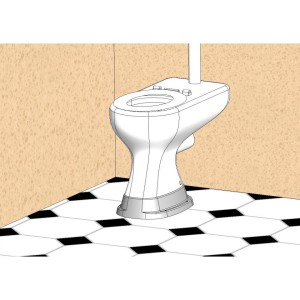 38mm High Toilet Plinth