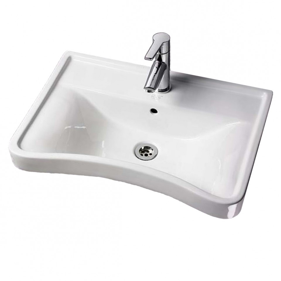 Ergonomic Concave Wash Basin Full Height Pedestal