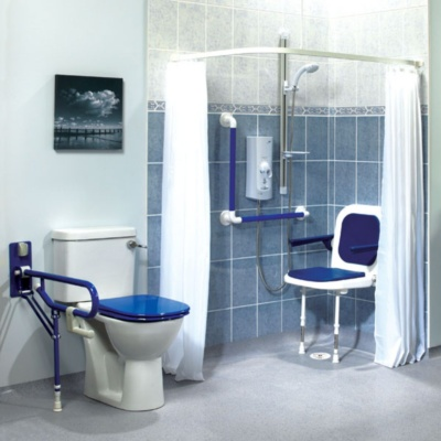 Shower Curtain Disabled Bathroom MCL Kent