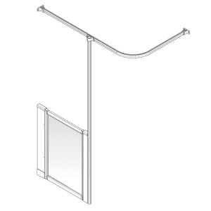 AKW Option H Shower Screen Set for Multi-Spec/Pipe Duct Trays