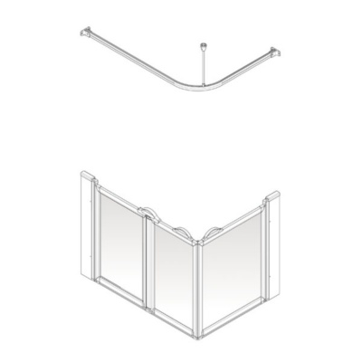 AKW Option A Shower Screen Set for Multi-Spec/Pipe Duct Trays