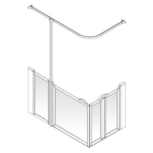 AKW Option B Shower Screen Set