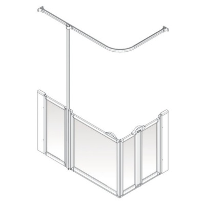 AKW Option B Shower Screen Set for Multi-Spec/Pipe Duct Trays