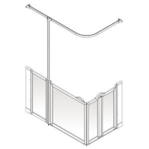 AKW Option BW Shower Screen Set