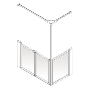 AKW Option C Shower Screen Set for Multi-Spec/Pipe Duct Trays
