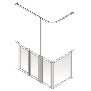 AKW Option D Shower Screen Set