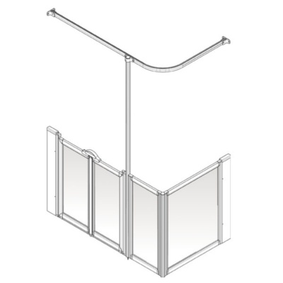 AKW Option D Shower Screen Set for Multi-Spec/Pipe Duct Trays