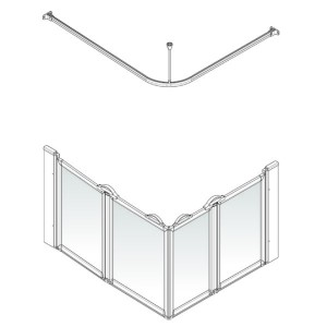 AKW Option E Shower Screen Set for Multi-Spec/Pipe Duct Trays