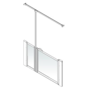 AKW Option J Shower Screen Set for Multi-Spec/Pipe Duct Trays