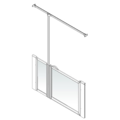 AKW Option J Shower Screen Set