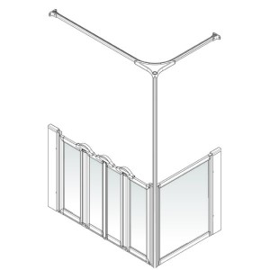 AKW Option K Shower Screen Set for Multi-Spec/Pipe Duct Trays
