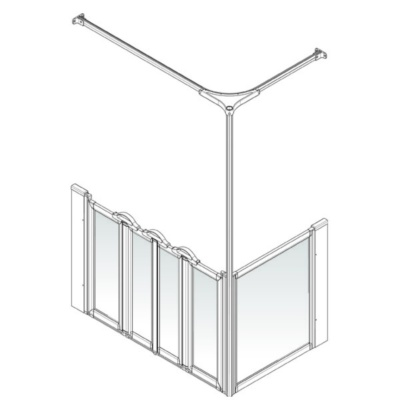 AKW Option K Shower Screen Set