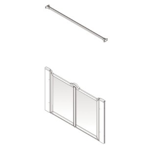 AKW Option M Shower Screen Set