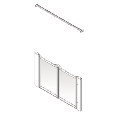AKW Option M Shower Screen Set for Multi-Spec/Pipe Duct Trays