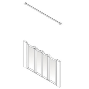 AKW Option N Shower Screen Set