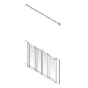 AKW Option NW Shower Screen Set