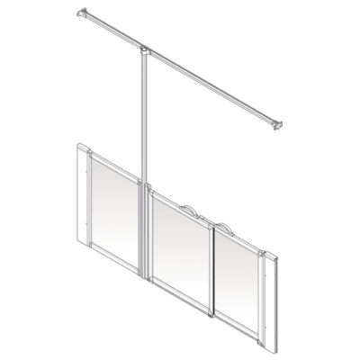 AKW Option P Shower Screen Set for Multi-Spec/Pipe Duct Trays