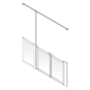 AKW Option TTW Shower Screen Set