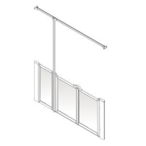 AKW Option U Shower Screen Set for Multi-Spec/Pipe Duct Trays