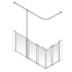 AKW Option X Shower Screen Set for Multi-Spec/Pipe Duct Trays