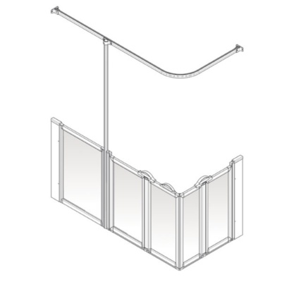 AKW Option XW Shower Screen Set