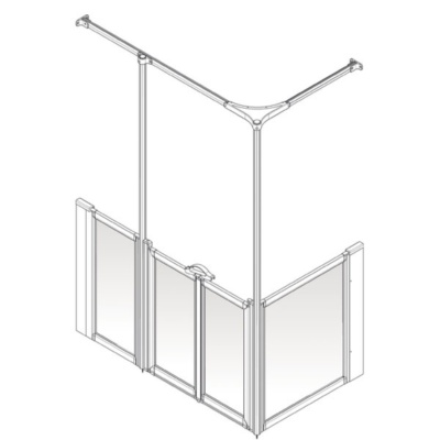 AKW Option Y Shower Screen Set for Multi-Spec/Pipe Duct Trays
