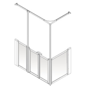 AKW Option Y Shower Screen Set