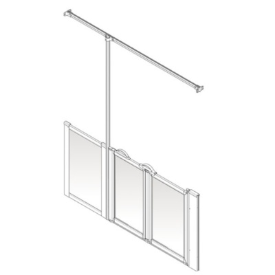 AKW Option Z Shower Screen Set for Multi-Spec/Pipe Duct Trays