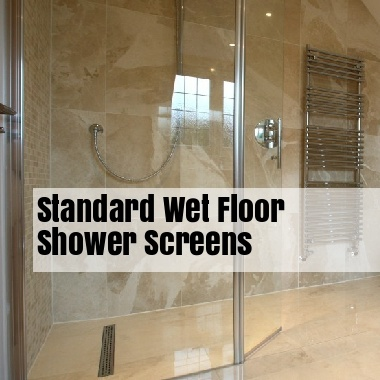 Standard Wet Floor Shower Screens