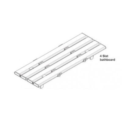 AKW Tromode 700mm Four Slatted Bath Board White