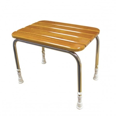 AKW wooden Shower Stool