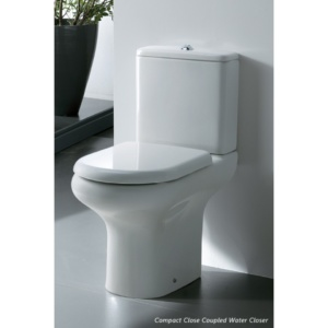 AKW Compact Close Couple Hi Pan, Cistern & Soft Close Seat