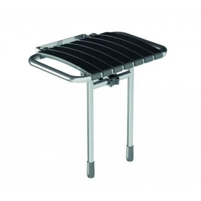 Bama Slatted Compact Fold Up Shower Seat – Slate Grey