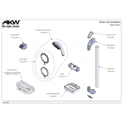 iCare Shower Accessory Kit