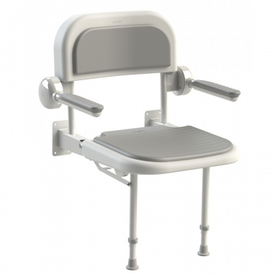 AKW 3000 Series Shower Seat with Grey Padded Back and Arms