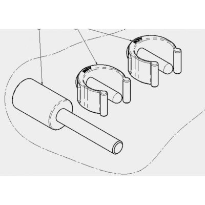 "AKW 4000 Series Shower Seat Leg Repair Kit = 2 x ""C"" clips (03-030-013) and 1 x Nylon Moulded Leg Adjuster (03-030-015)"