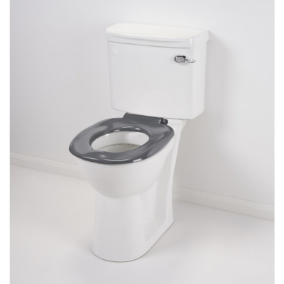 Grey Ergonomic Toilet Seat without Lid