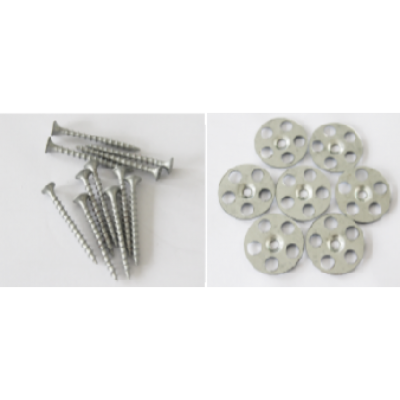AKW Tile Backer Board Washers & 25mm Screw Fixings x 50