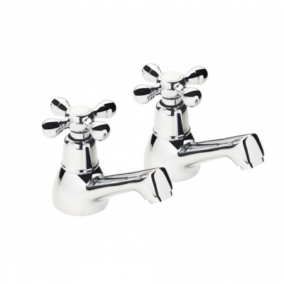AKW Cross Head Basin Taps (Pair)