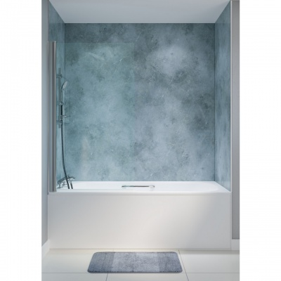 Fixed Square Top Bath Shower Screen 300mm